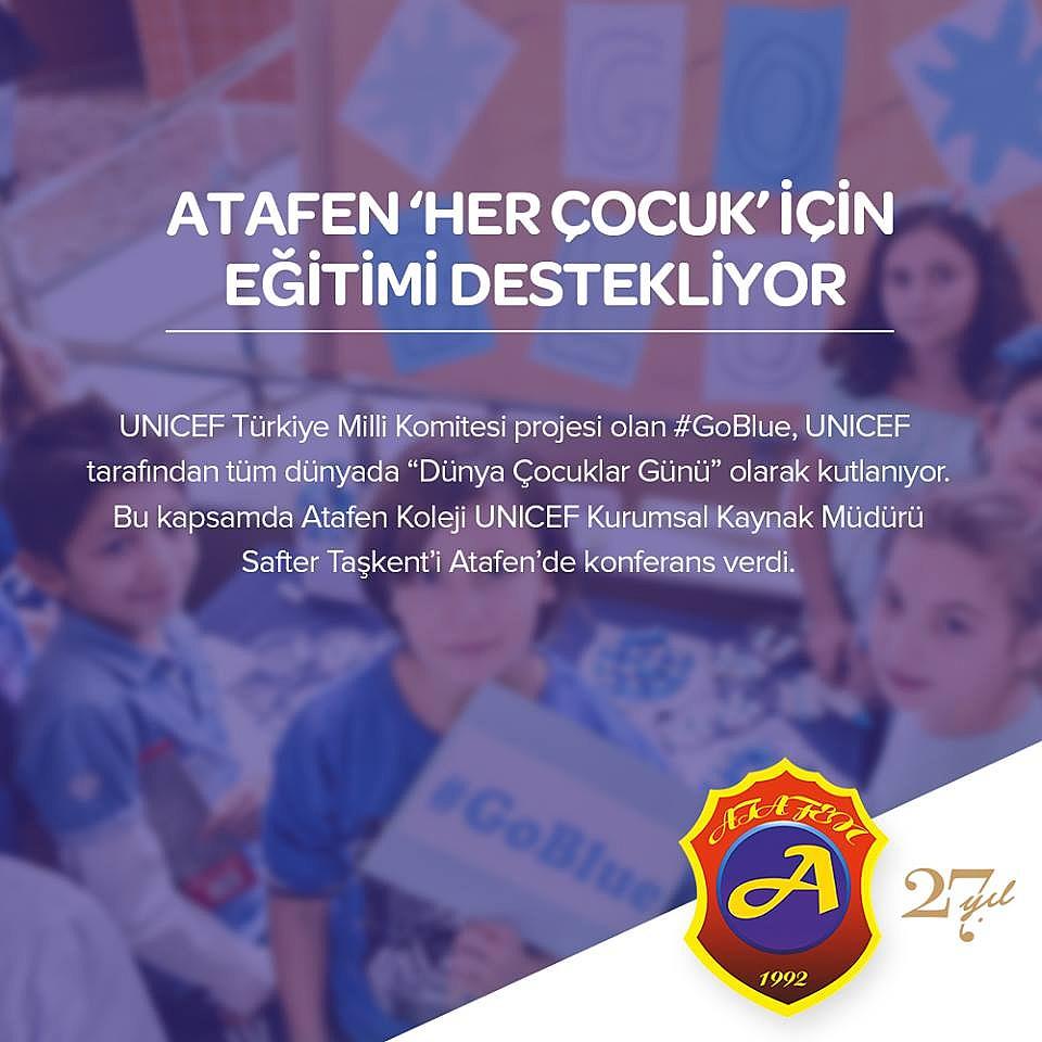 """>Atafen """"Her Çocuk"""" İçin Eğitimi Destekliyor"""